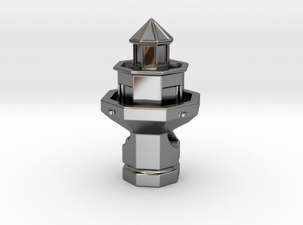 Hilton Head Lighthouse in Premium Silver