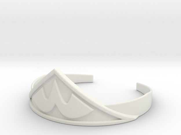 Wonder Woman's Tiara 1:1 in White Strong & Flexible