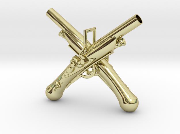 Pendanttop of Flintlock in 18k Gold