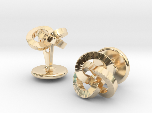 Trefoil Studs in 14K Yellow Gold