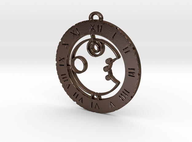 Arjun - Pendant in Polished Bronze Steel