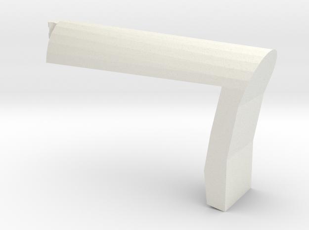 Papoose Shoulder Stock (Short) in White Natural Versatile Plastic