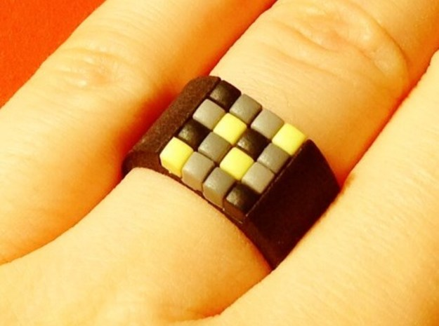 16-bit ring (US7/⌀17.3mm) in Black Strong & Flexible