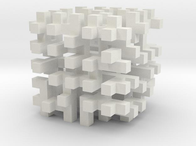cube_10 in White Natural Versatile Plastic