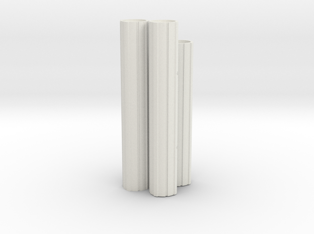 Engines - Front V0.1 in White Natural Versatile Plastic