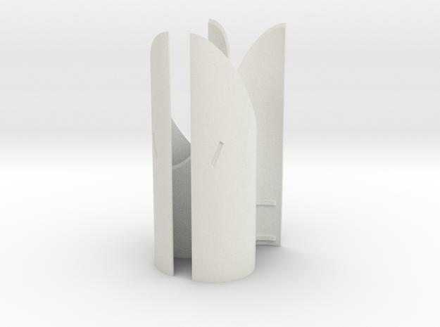 Engines - Front Heatshields V0.1 in White Natural Versatile Plastic