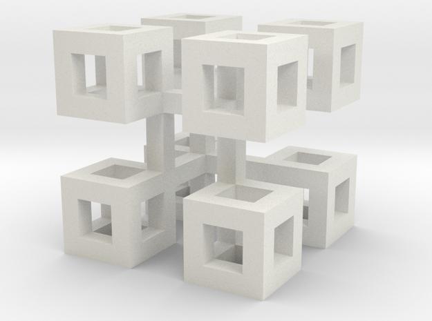 cube_09 in White Natural Versatile Plastic