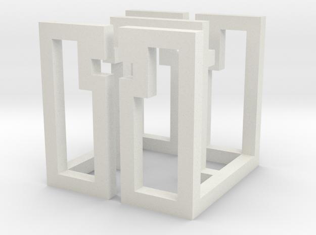 cube_08 in White Natural Versatile Plastic