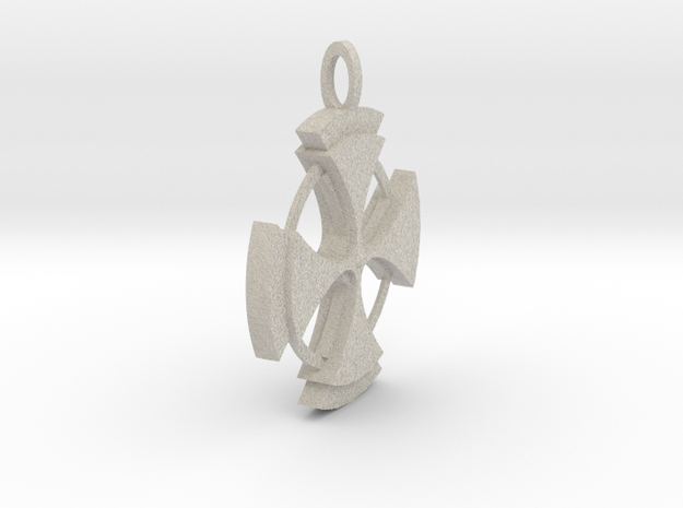 Celtic Cross Pendant in Natural Sandstone