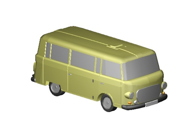 Barkas Bus (Z, 1:220) in Smooth Fine Detail Plastic