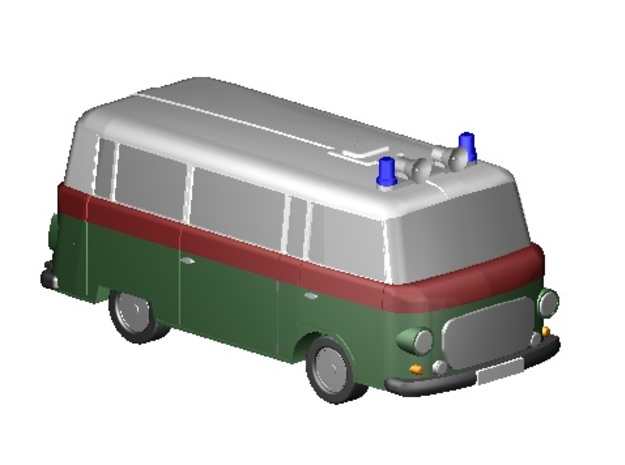 Barkas Bus Polizei (Z, 1:220) in Frosted Ultra Detail