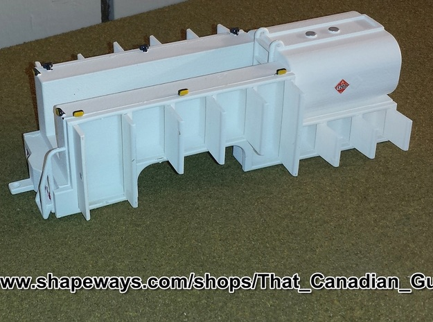 1/64 Service & Fuel Body Kit Part 1/2 in White Strong & Flexible Polished
