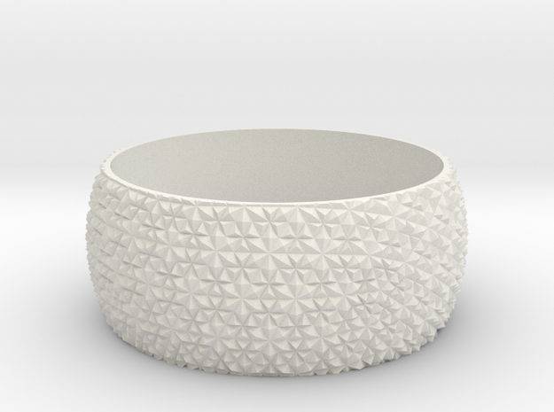 Millidix 2 in White Natural Versatile Plastic