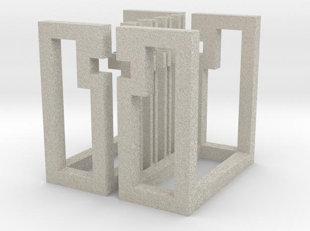 cube_19 in Natural Sandstone