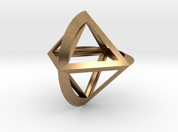 Octo Roller Classic 50mm in Natural Brass
