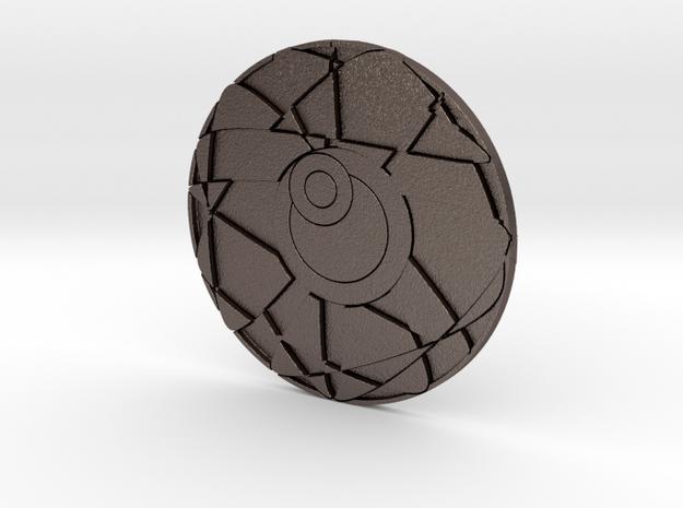 Hydrogen Coaster in Polished Bronzed Silver Steel