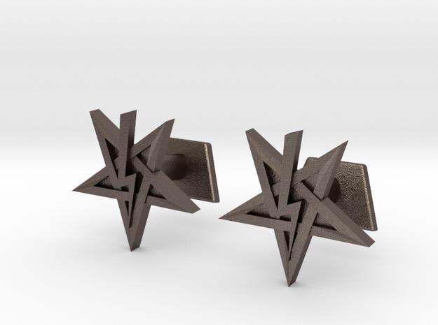 Anton Szandor LaVey's Sigil Cufflinks in Stainless Steel