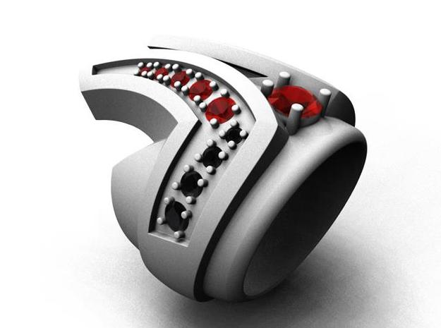 Final Frontier Ring _ Size 12 (21.49 mm) in Natural Silver