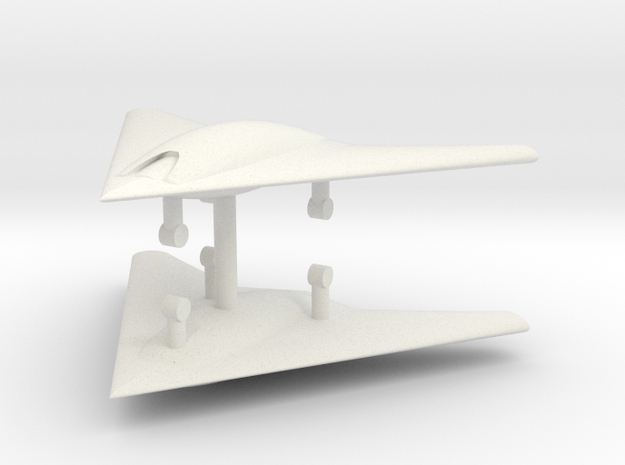 1/285 X-45C UCAV (x2) in White Natural Versatile Plastic