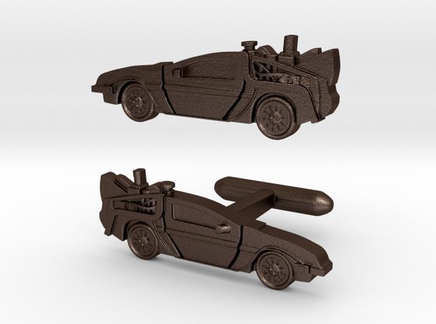 Back to the Future's Delorean: cufflinks 3d printed