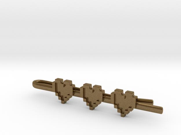 Legend of Zelda: Pixel Heart Tie Clip 3d printed