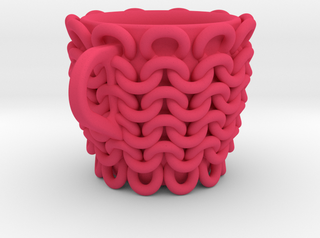 one cup a day | Day 24: Knitted Cup 3d printed