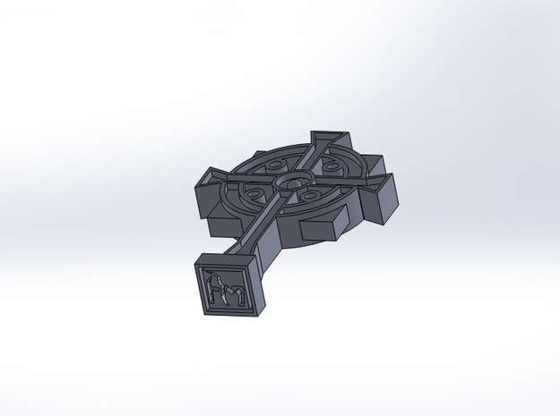 Secret Stamp Cross 3d printed