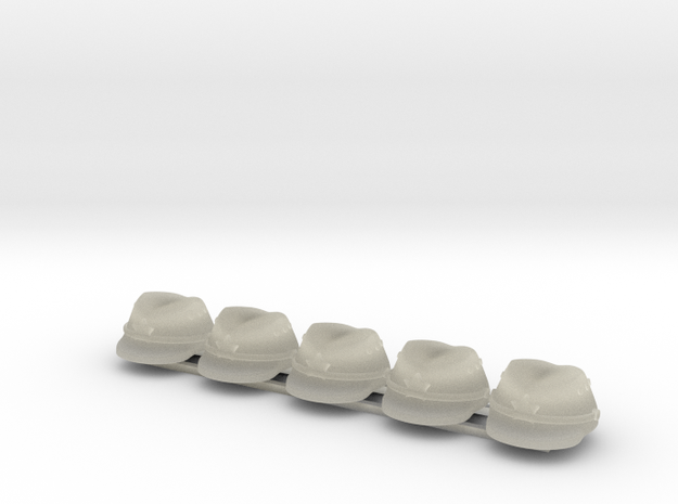 5 x Japanese Cap  3d printed