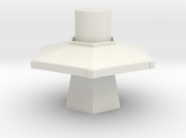 TARDIS Console 30mm in White Natural Versatile Plastic