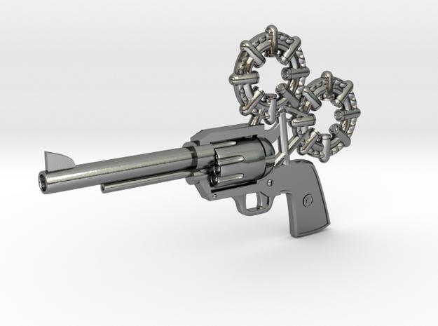 Revolver in Polished Silver