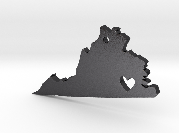 I love Virginia Pendant in Polished and Bronzed Black Steel