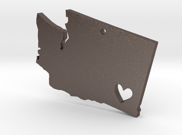 I love Washington Pendant in Polished Bronzed Silver Steel