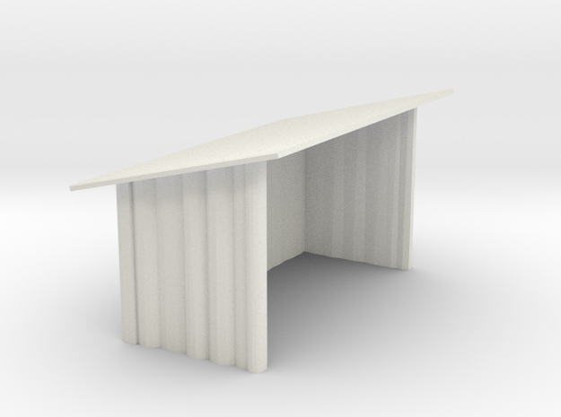 Mini Rustic Shed #1 in White Natural Versatile Plastic