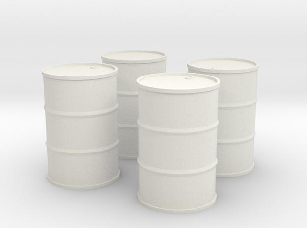 4 Olietønder 160 l. 1/87 in White Natural Versatile Plastic