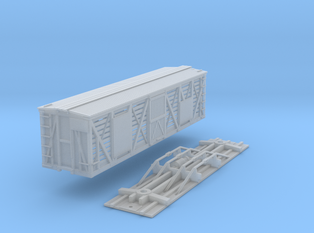 N-Scale D&SL 40000 Series Stock Car Kit in Frosted Ultra Detail