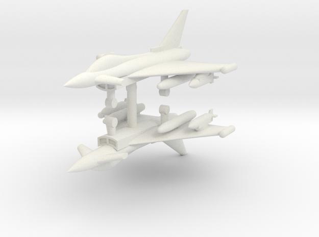 1/285 Eurofighter Typhoon Single Seat (x2) in White Natural Versatile Plastic