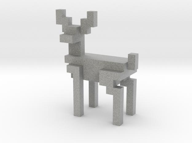 8bit reindeer with sharp corners in Metallic Plastic
