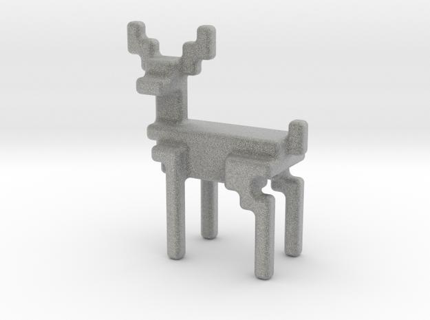 8bit reindeer with rounded corners in Metallic Plastic