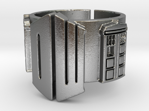 Dr Who and TARDIS Ring 01 (Size 8.75 - adjustable)