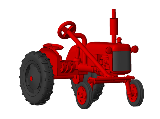 1/64 Scale 1950 Potato Tractor in Smooth Fine Detail Plastic