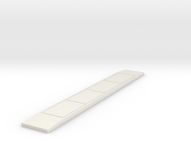 'N-Scale' - 70' Truck Scale in White Natural Versatile Plastic