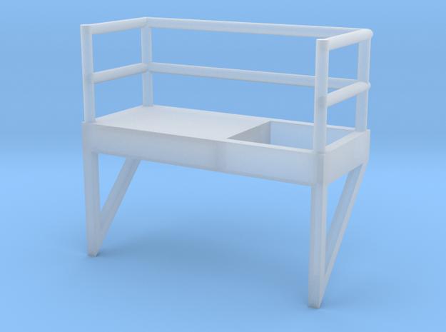 'N Scale' - 8' W - Ladder Platform - Left in Smooth Fine Detail Plastic