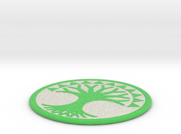 Selesnya Coaster in Full Color Sandstone
