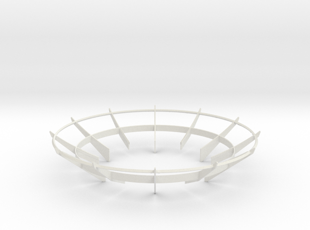 Cassini 1/20th Main Dish Antenna Ribs in White Natural Versatile Plastic