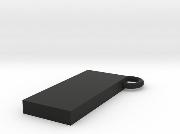 Monolith key chain in Black Natural Versatile Plastic