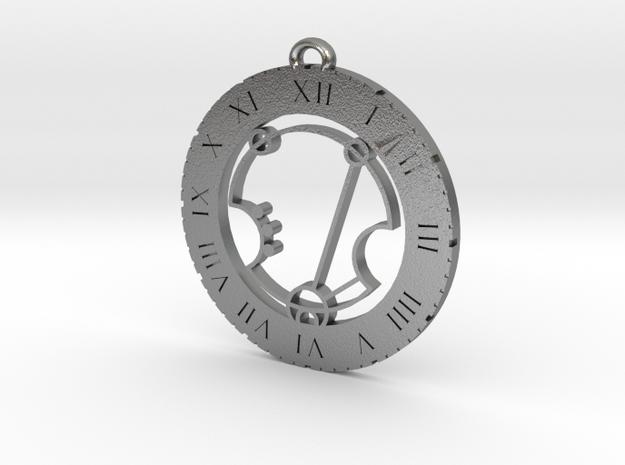 Xavier - Pendant in Natural Silver