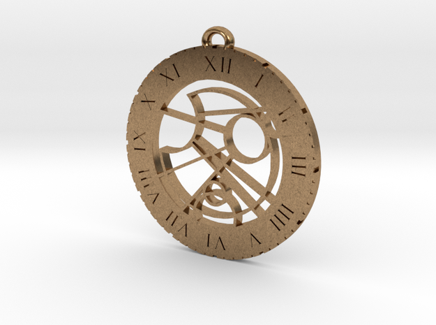 Thomas - Pendant in Natural Brass