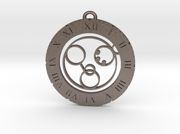 Nolan - Pendant in Polished Bronzed Silver Steel