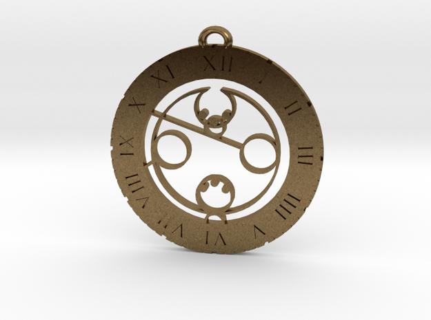 Landon - Pendant in Raw Bronze