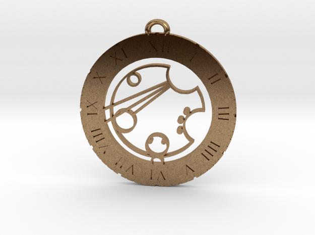 Carson - Pendant in Raw Brass